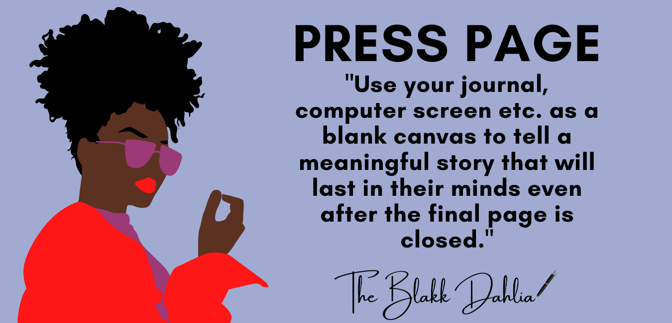 press features, author interviews, the blakk dahlia, alexcina brown, black authors, podcast interviews