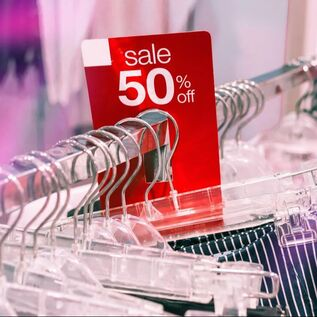 sale rack, 50% off sale, clearance, shopping, bargain shopping