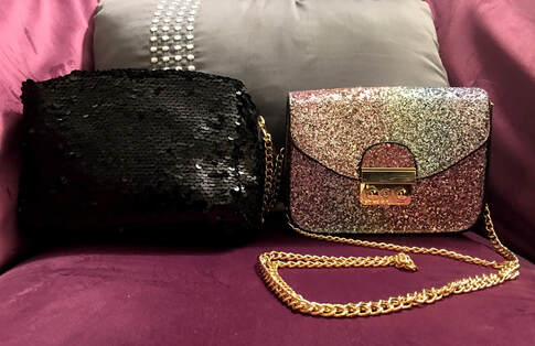 sequin purses from rainbow shops
